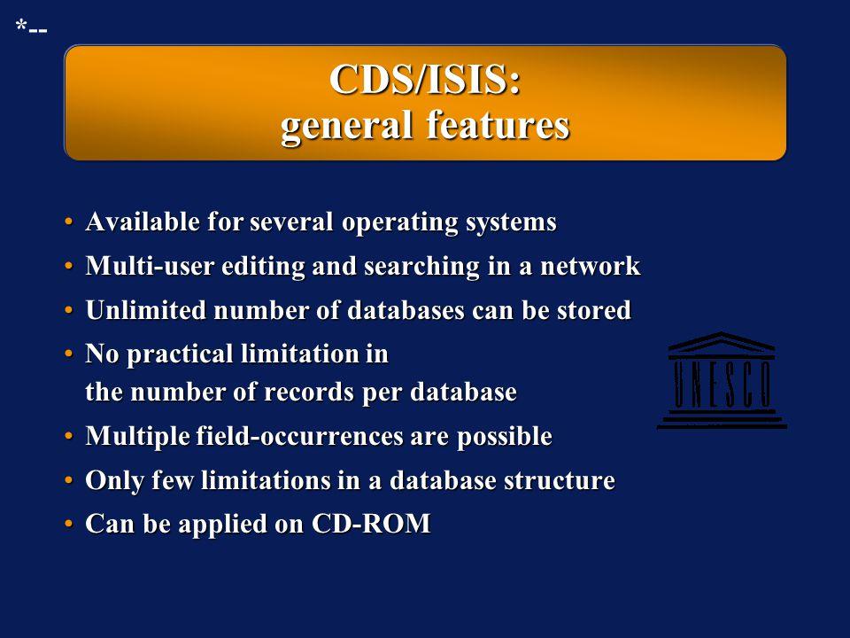 Micro-CDS/ISIS running in Microsoft Windows (full screen)