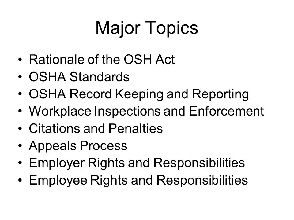 Appealing an OSHA Citation Employee Appeals: 1.