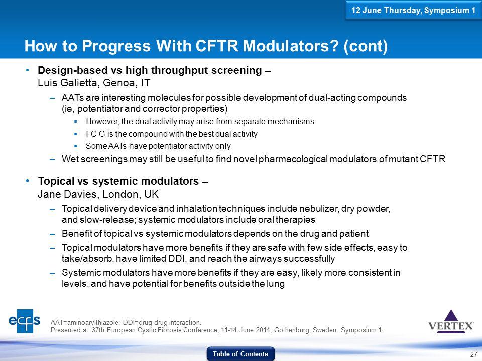 27 AAT=aminoarylthiazole; DDI=drug-drug interaction. Presented at: 37th European Cystic Fibrosis Conference; 11-14 June 2014; Gothenburg, Sweden. Symp