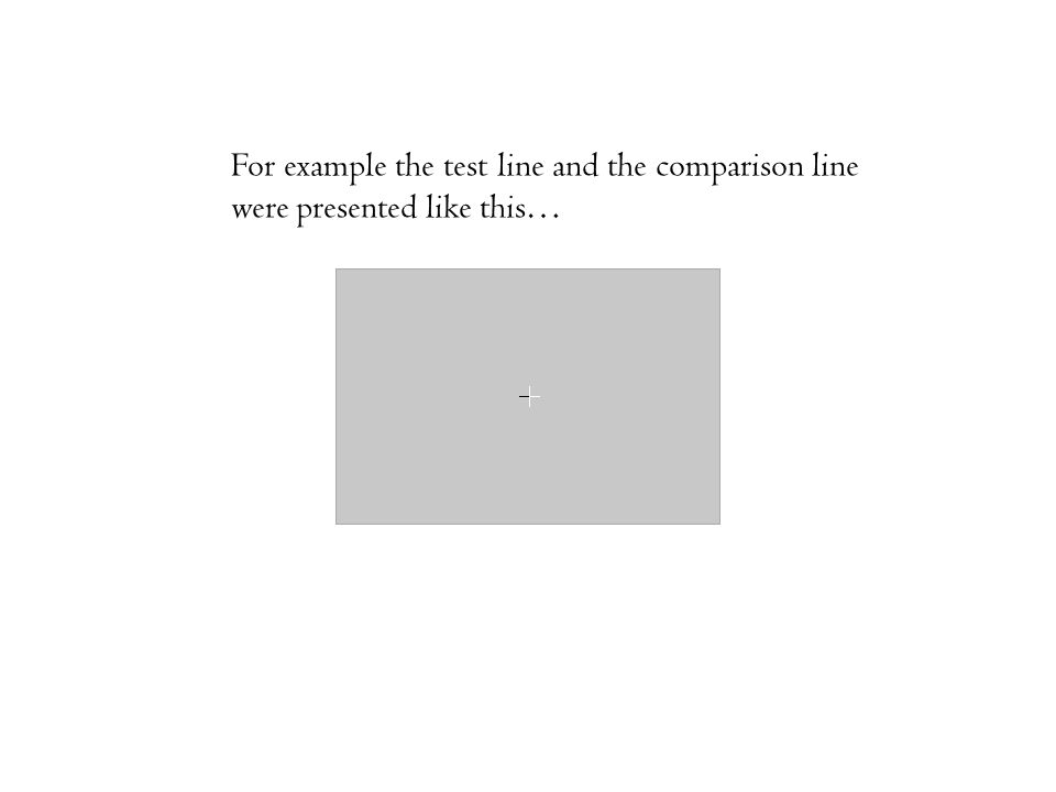 For example the test line and the comparison line were presented like this…