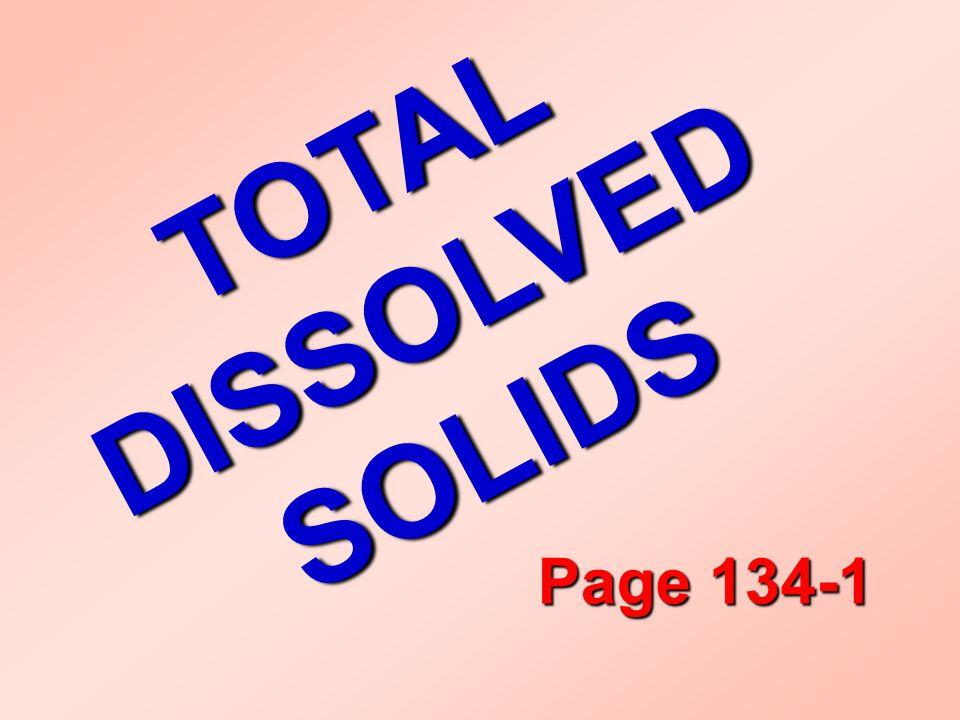 T O T A L D I S S O L V E D S O L I D S Page 134-1