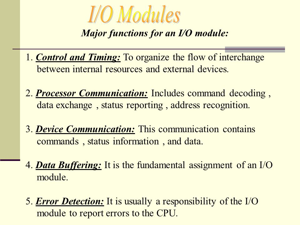 1.Each interrupt line has a priority 2.