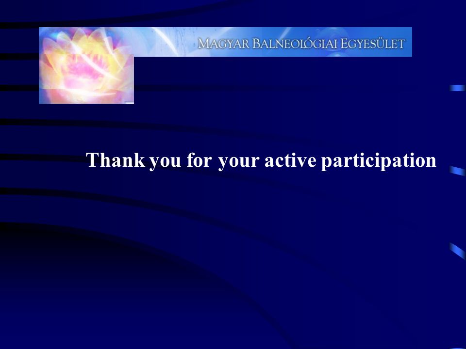 Thank you for your active participation