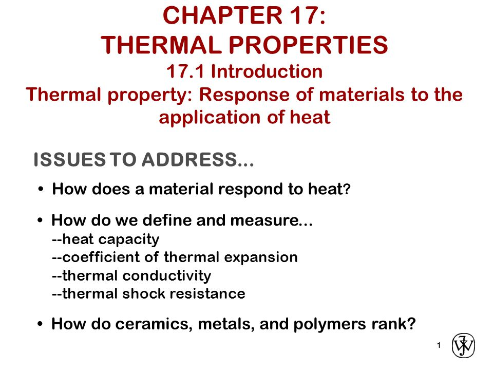 Dependence of thermal conductivity on temperature for ceramics Nonmetallic materials Thermal insulators Phonons for thermal conduction Phonon scattering by imperfections At higher T, radiant heat transfer Porosity: increasing pore volume reduces thermal conductivity also gaseous convection ineffective