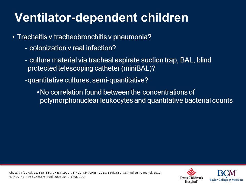 Page 38 xxx00.#####.ppt 5/9/2015 12:01:59 AM Tracheitis v tracheobronchitis v pneumonia? ‐ colonization v real infection? ‐ culture material via trach