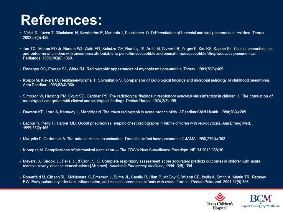Page 50 xxx00.#####.ppt 5/9/2015 12:01:59 AM References: Virkki R, Juven T, Rikalainen H, Svedström E, Mertsola J, Ruuskanen O. Differentiation of bac