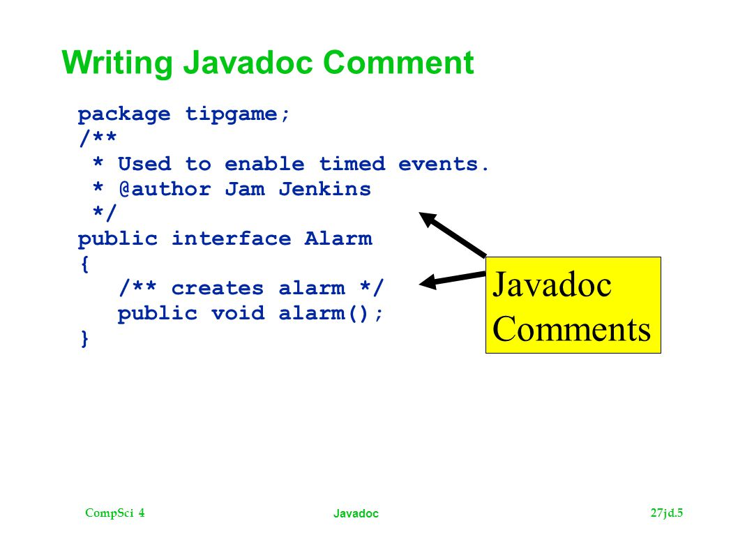 CompSci 427jd.5 Javadoc package tipgame; /** * Used to enable timed events.
