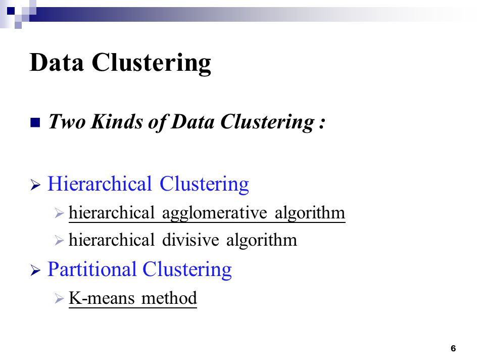 17 Hierarchical Clustering hierarchical agglomerative algorithm : 4.