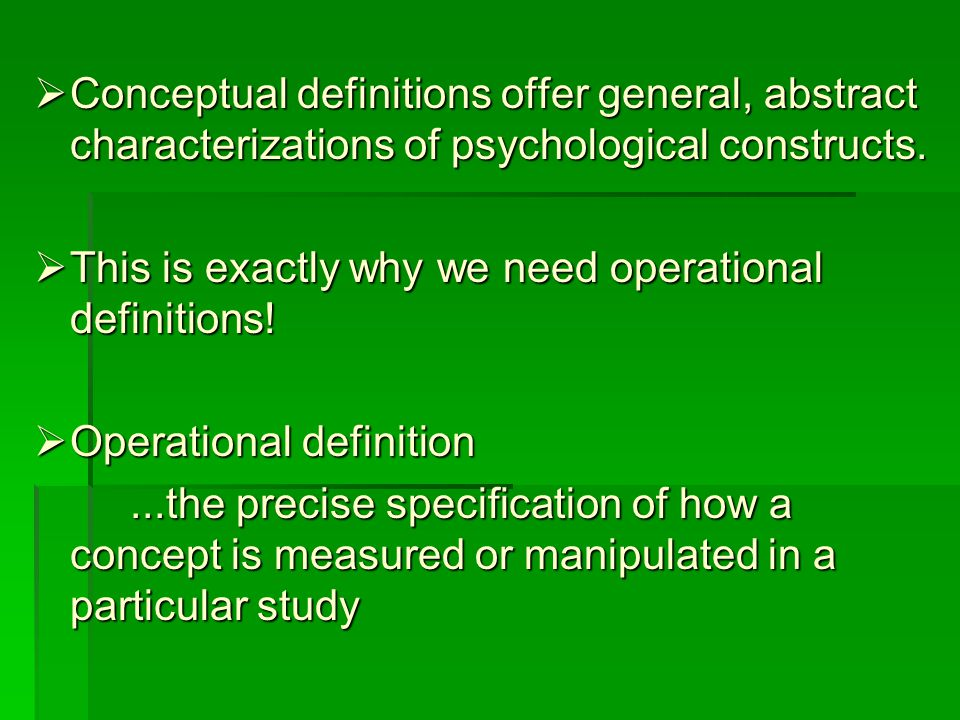 Operational Definitions How can we operationalize aggression .