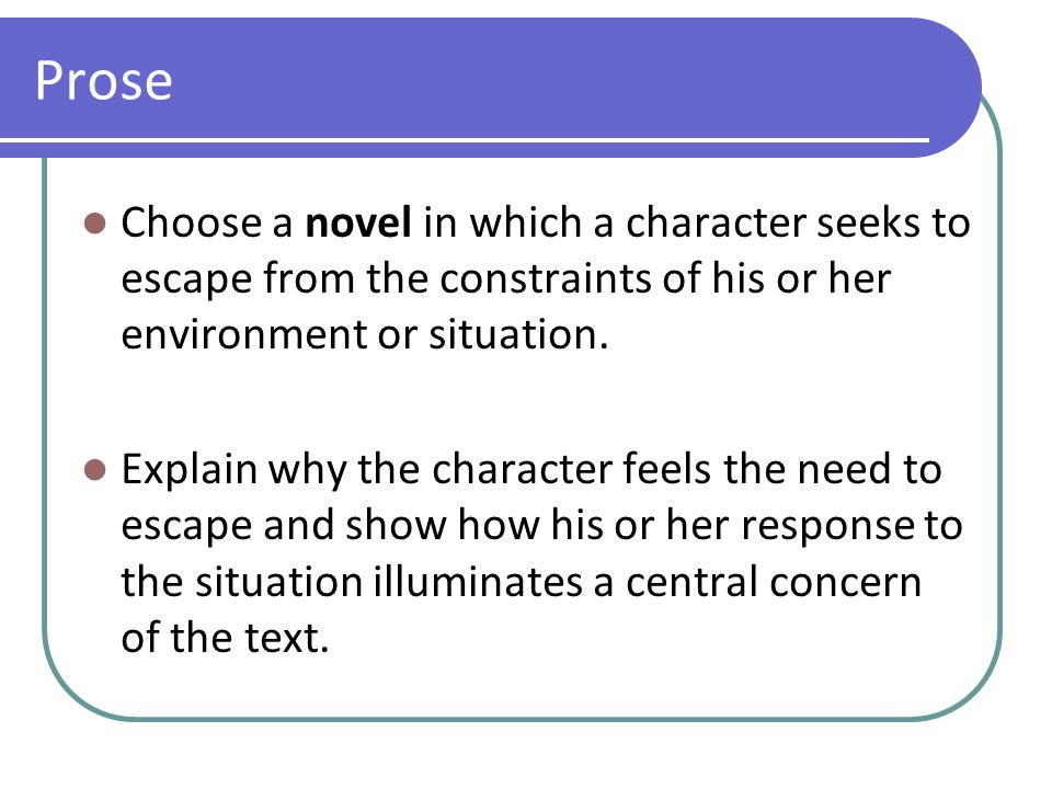 Prose Choose a novel in which one character generates hostility from one or more than one character.