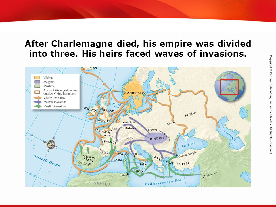 TEKS 8C: Calculate percent composition and empirical and molecular formulas. After Charlemagne died, his empire was divided into three. His heirs face