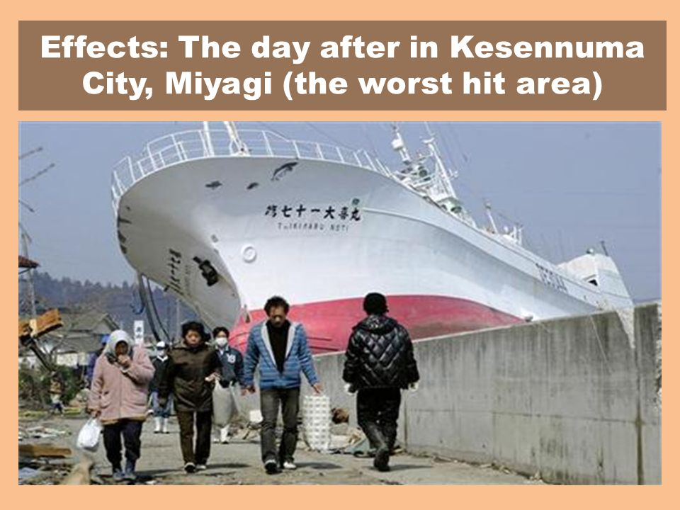 Effects: The day after in Kesennuma City, Miyagi (the worst hit area)