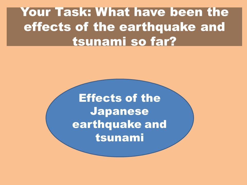 Your Task: What have been the effects of the earthquake and tsunami so far.
