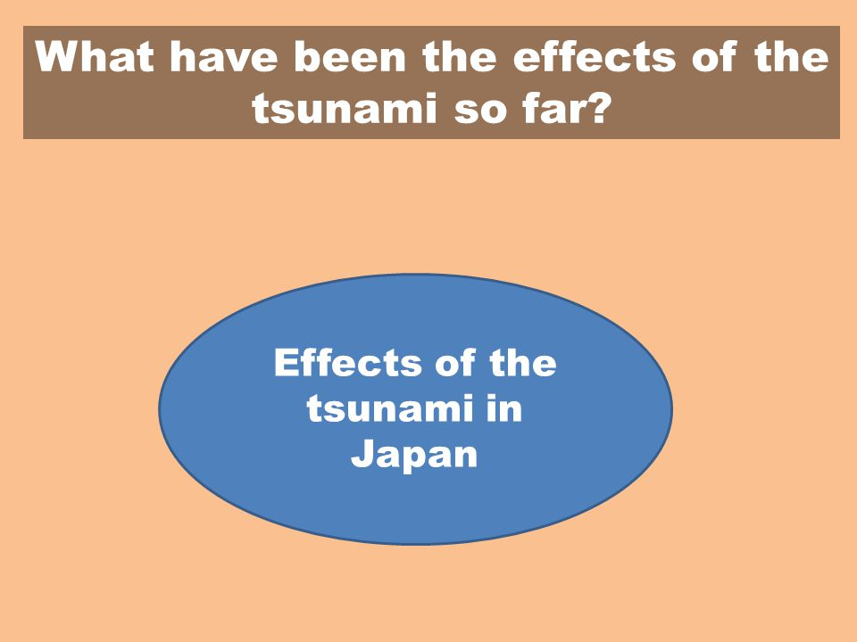 What have been the effects of the tsunami so far Effects of the tsunami in Japan