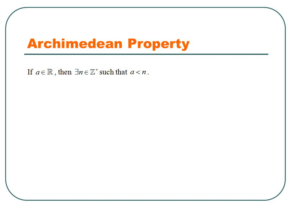 Archimedean Property