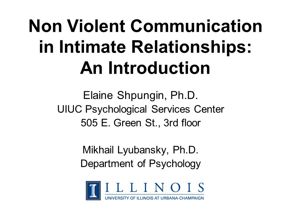 Marshall Rosenberg, Ph.D. (founder) Non Violent Communication (NVC)