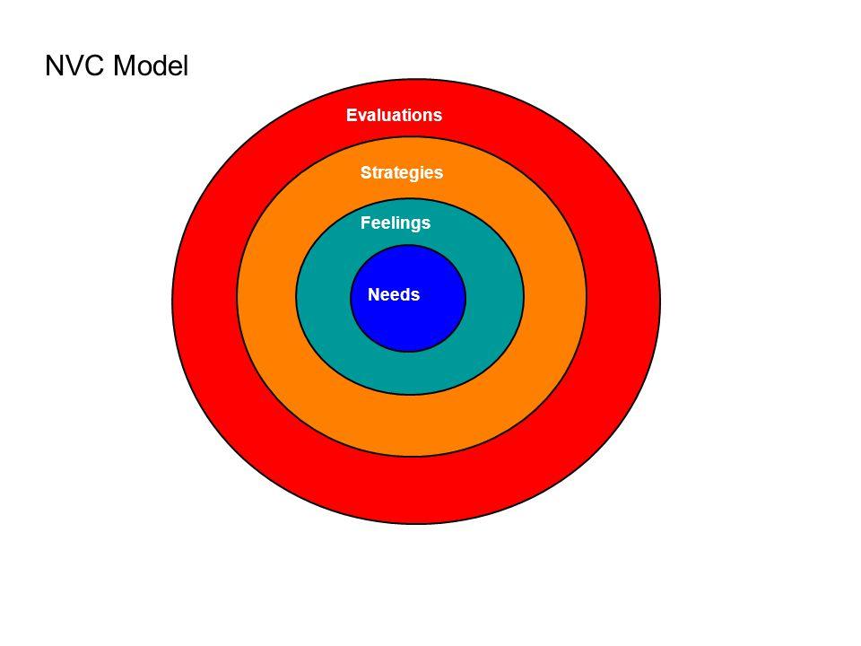 Needs Feelings Strategies Evaluations NVC Model