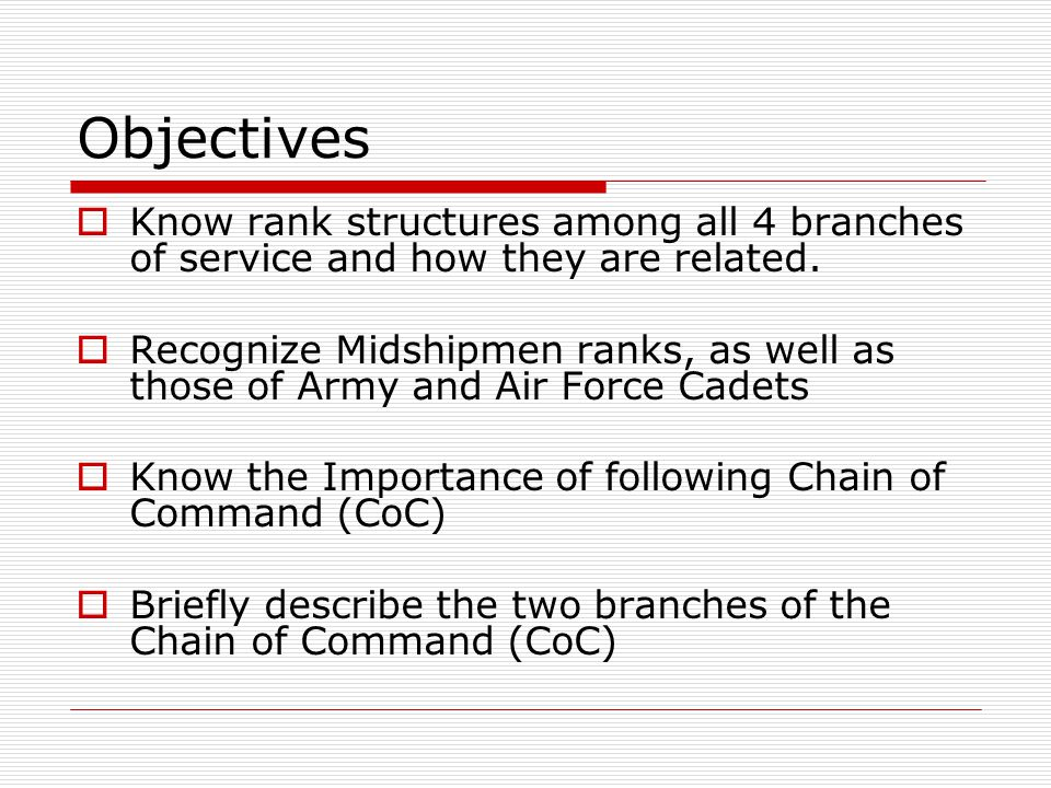 Importance of Chain of Command  Essential for effective management, accountability, and a strong means of operation.