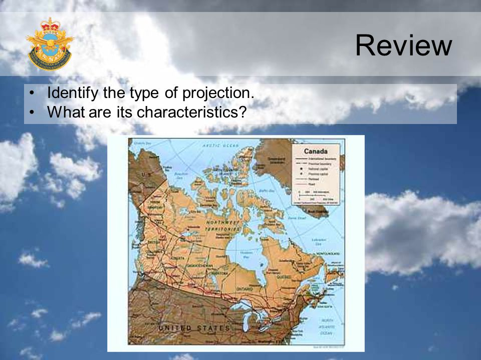 Review Identify the type of projection. What are its characteristics?