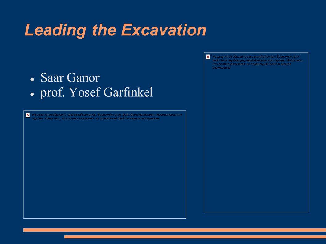 Leading the Excavation Saar Ganor prof. Yosef Garfinkel