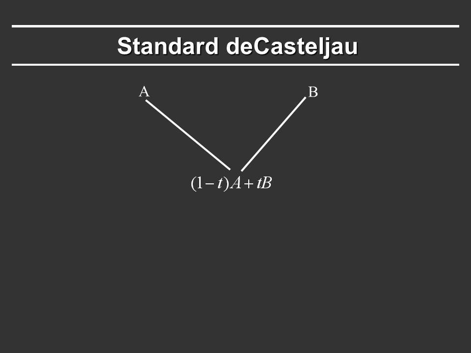 Standard deCasteljau Standard deCasteljau A B