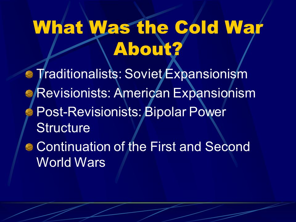 What Was the Cold War About.