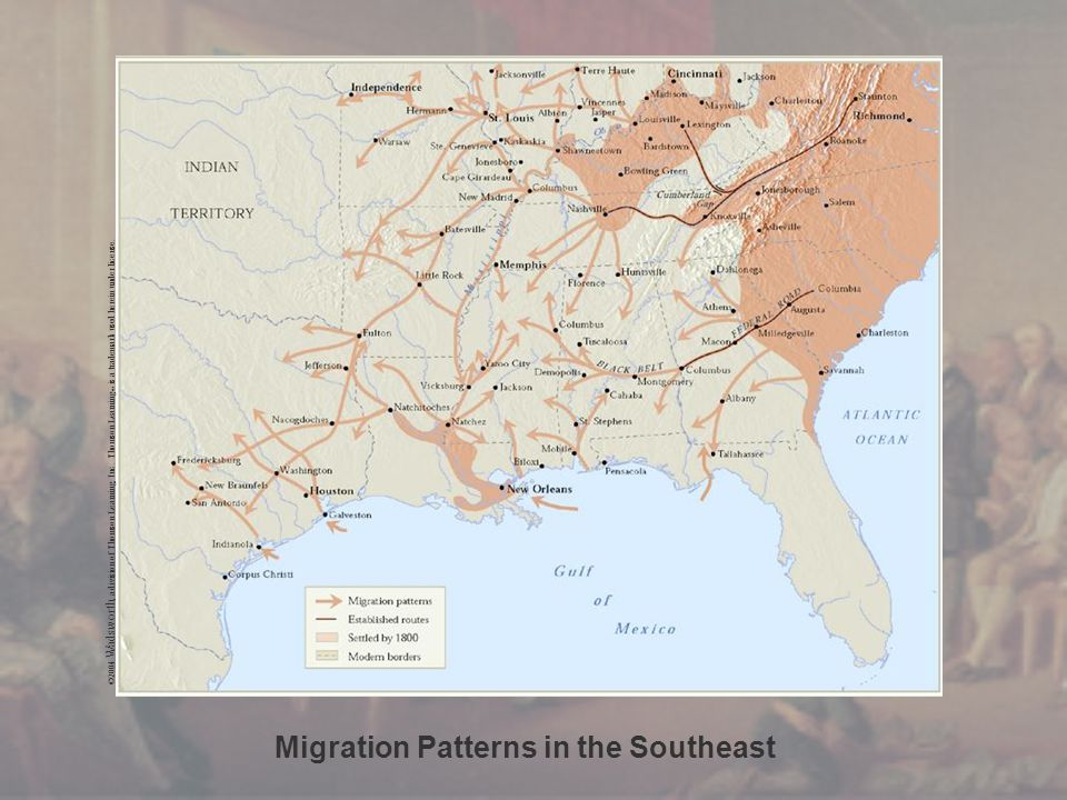 Migration Patterns in the Southeast ©2004 Wadsworth, a division of Thomson Learning, Inc. Thomson Learning ™ is a trademark used herein under license.