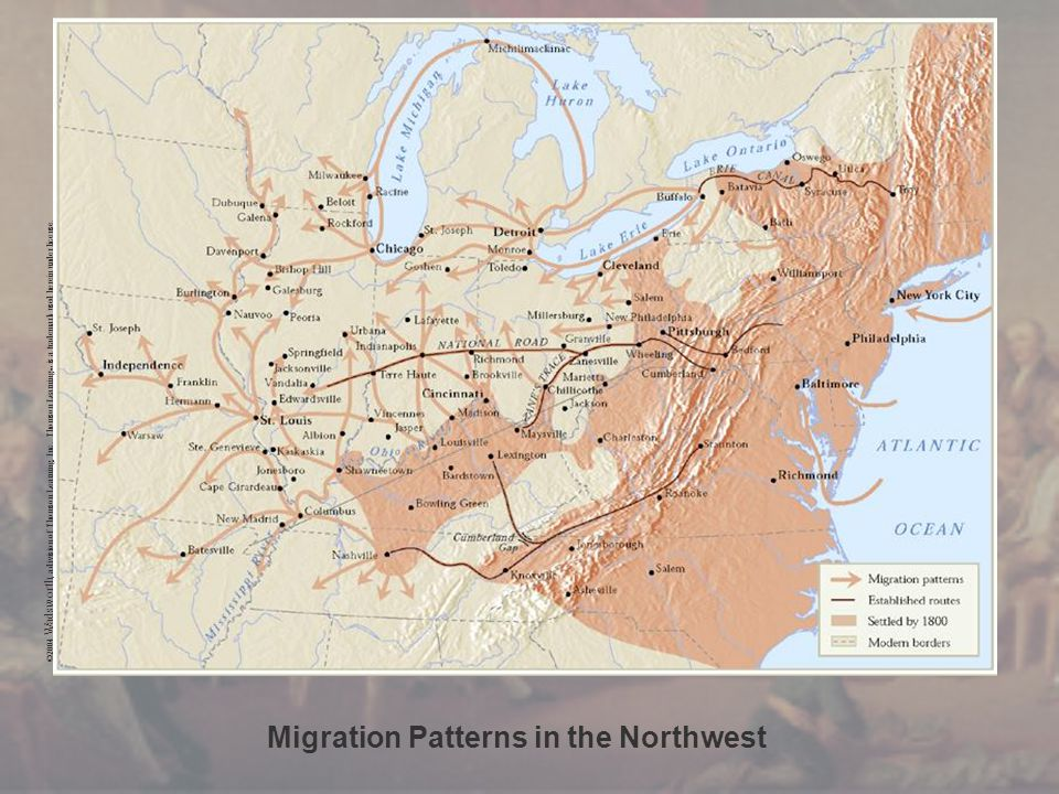 Migration Patterns in the Northwest ©2004 Wadsworth, a division of Thomson Learning, Inc. Thomson Learning ™ is a trademark used herein under license.