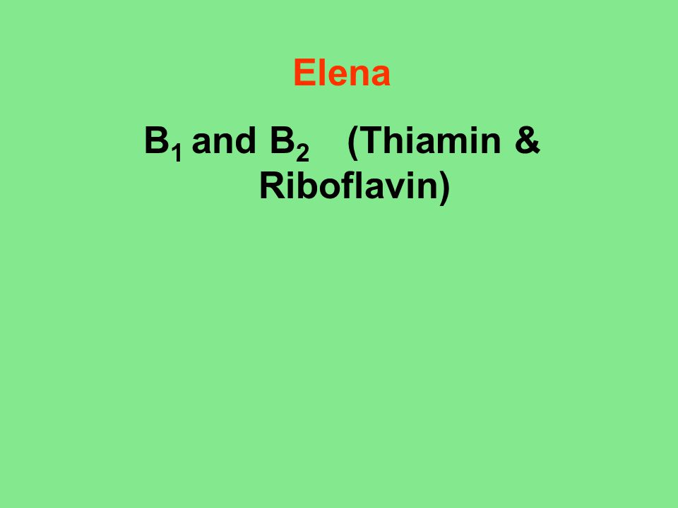 B 1, Thiamin 1.Name of vitamin or mineral (briefly give chemical composition) I'll start with B 1, Thiamin… C 12 H 17 N 4 OS + http://en.wikipedia.org/wiki/Thiamine