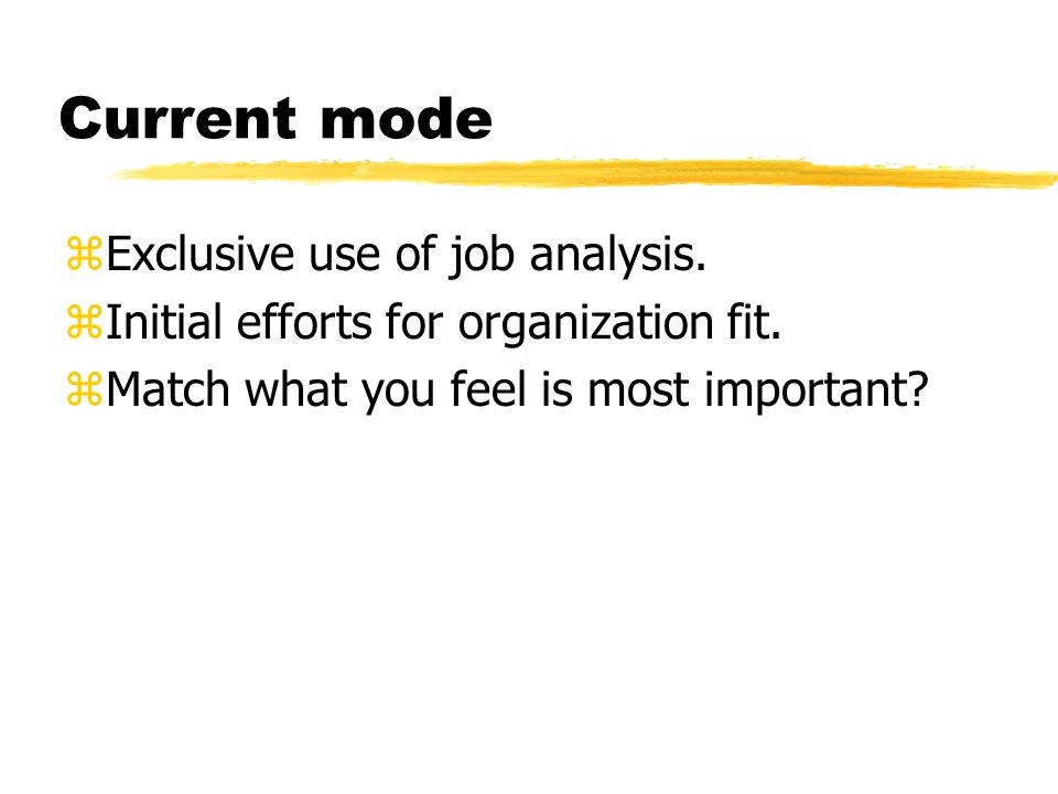 Which type of fit is most important in your organization? Why?