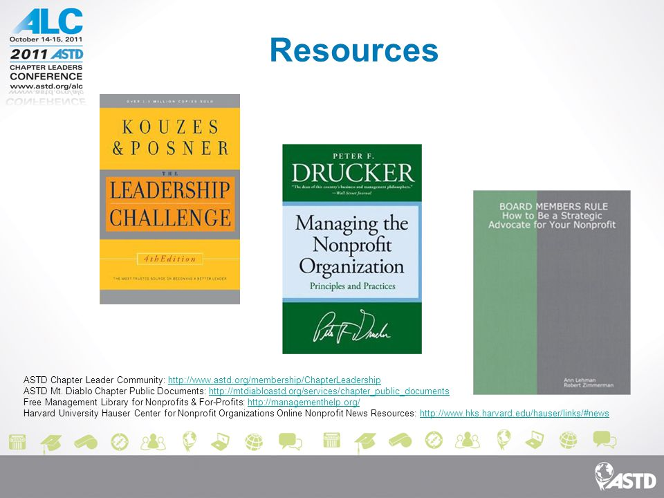 Resources ASTD Chapter Leader Community: http://www.astd.org/membership/ChapterLeadershiphttp://www.astd.org/membership/ChapterLeadership ASTD Mt.