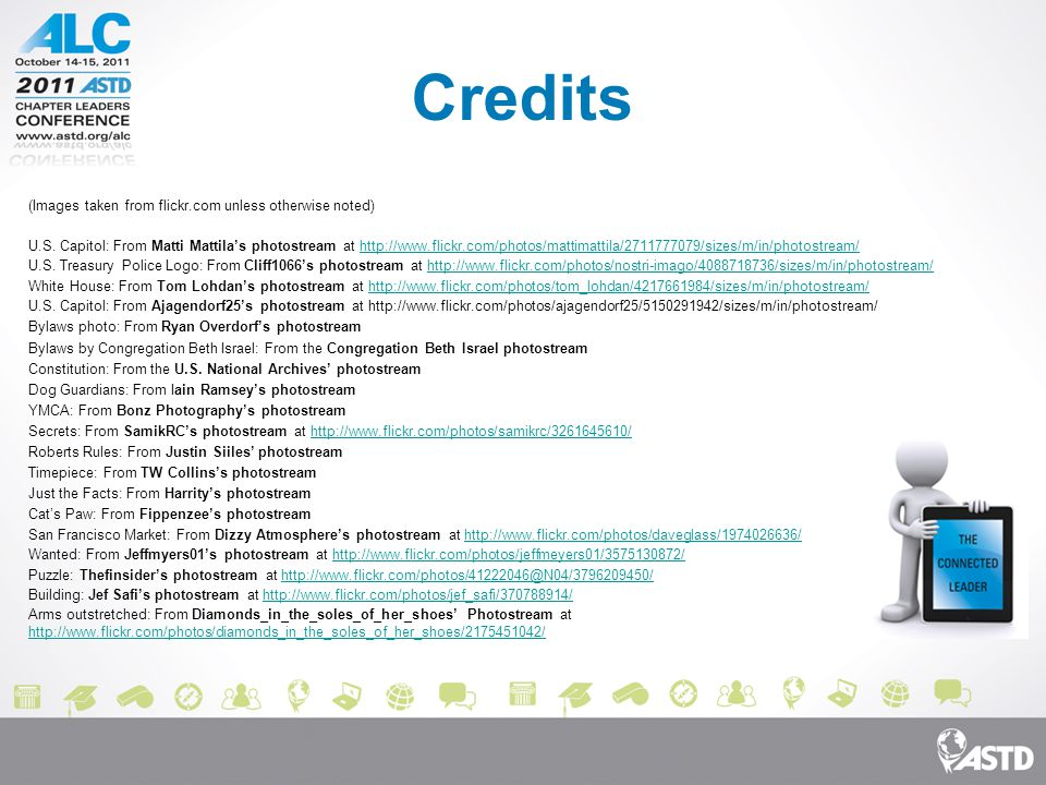 Credits (Images taken from flickr.com unless otherwise noted) U.S.