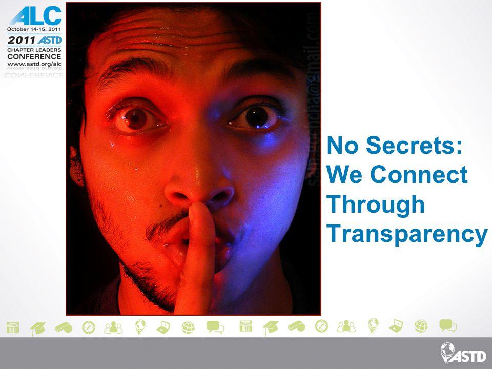 No Secrets: We Connect Through Transparency