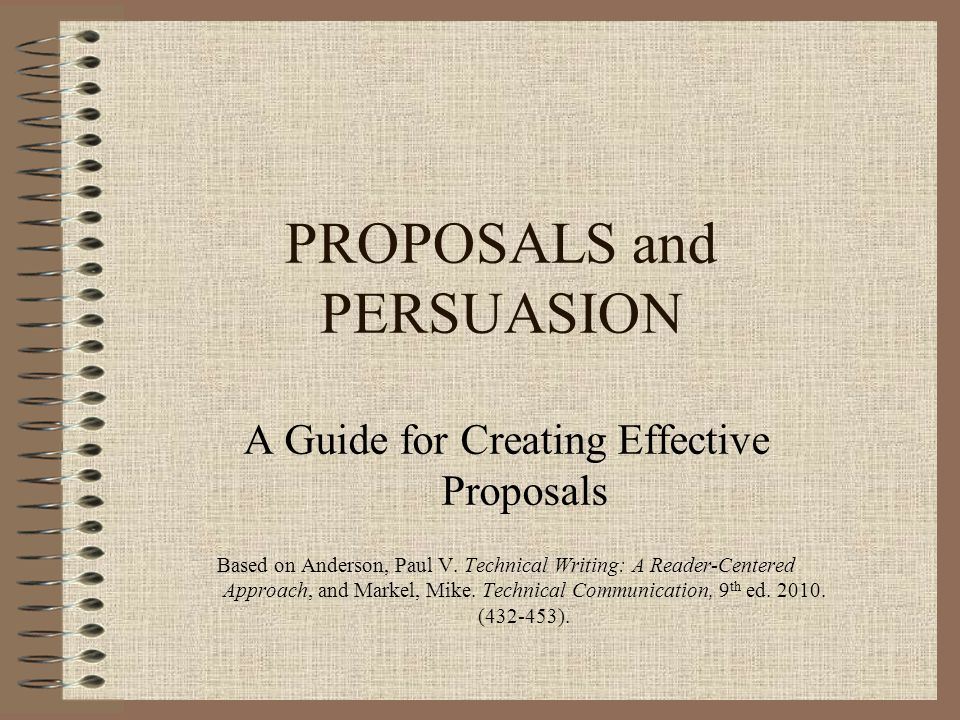 Proposal Elements Conclusion –Restate problem briefly –Restate objectives –Restate request to work on this project