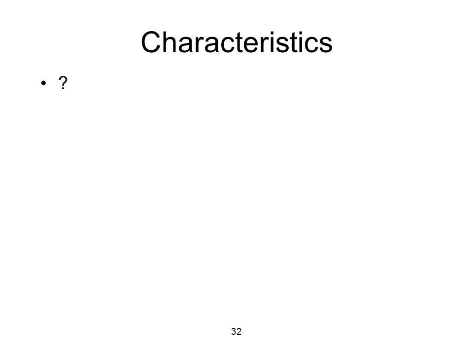 32 Characteristics ?