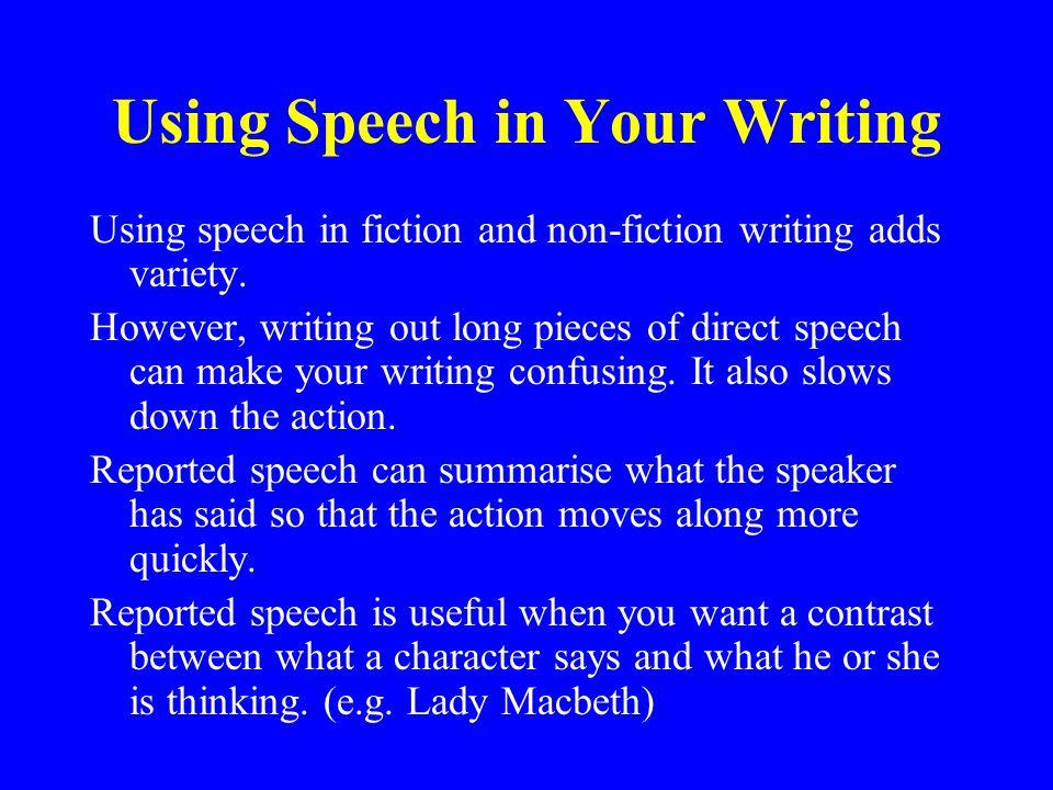 Punctuating Direct Speech.