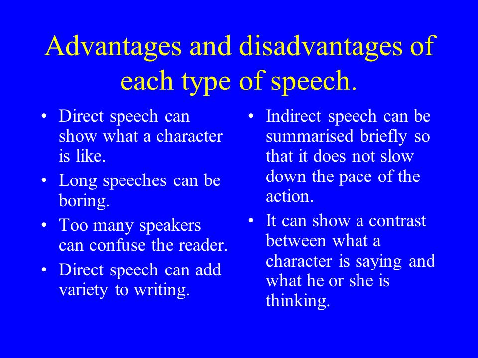 Using Speech in Your Writing Using speech in fiction and non-fiction writing adds variety.