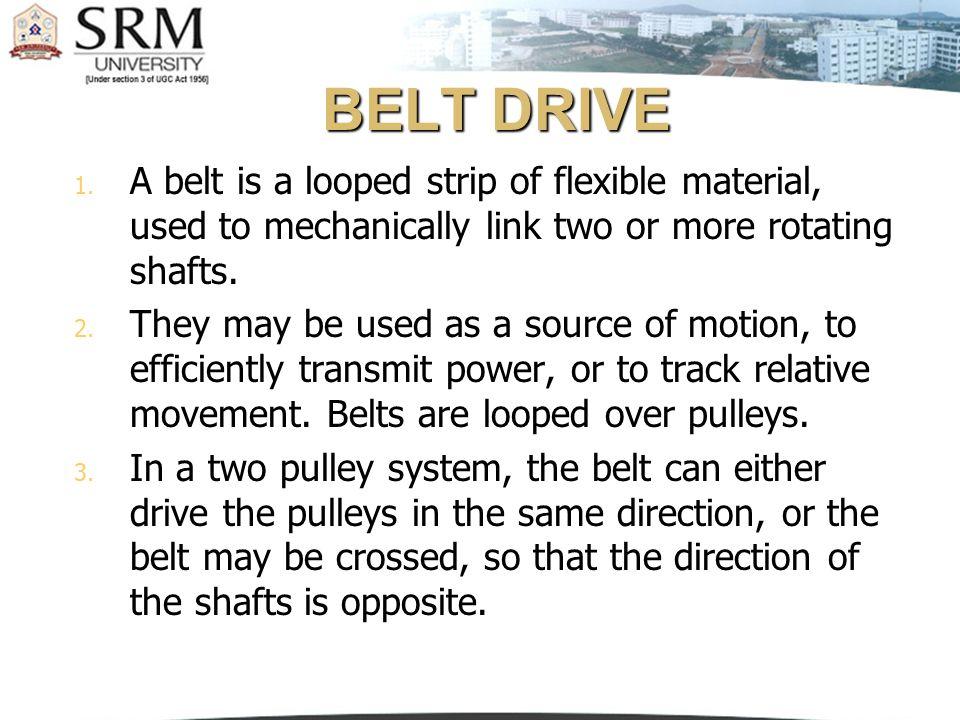 Open belt drive
