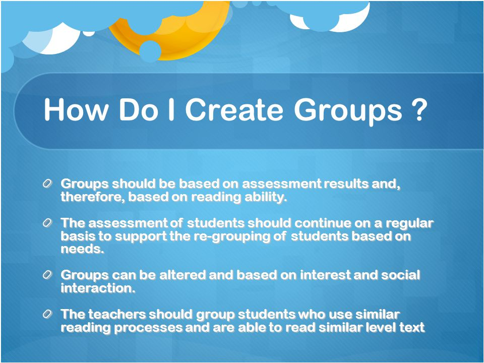 How Do I Create Groups .