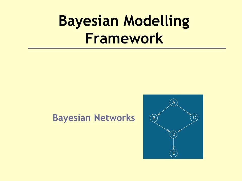 Bayesian Modelling Framework Bayesian Networks