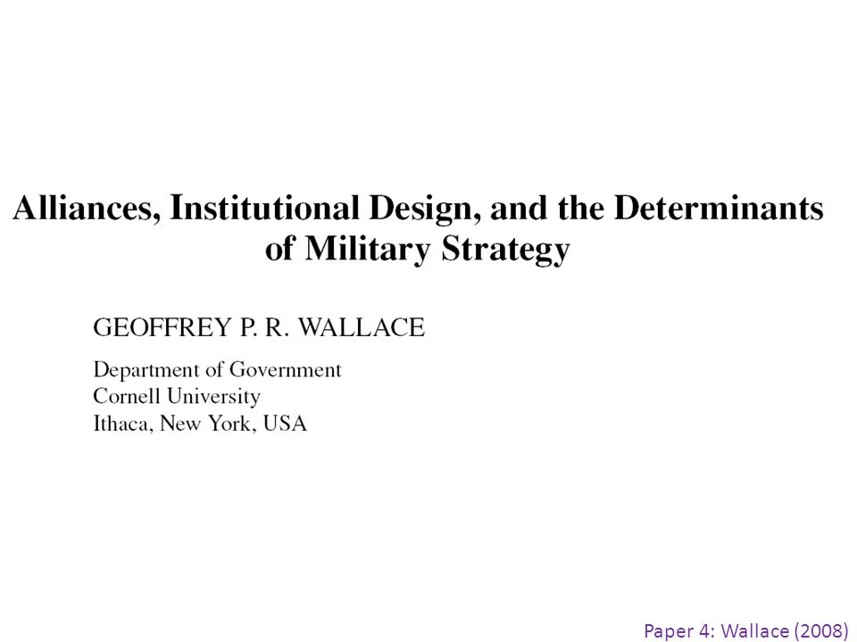 Paper 4: Wallace (2008)