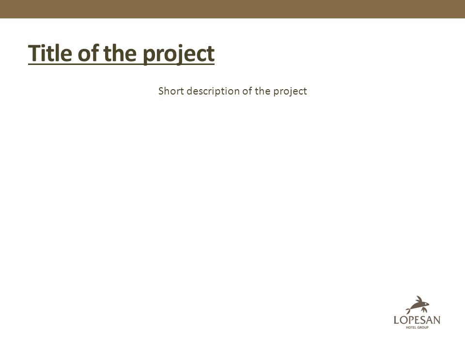 Title of the project Short description of the project