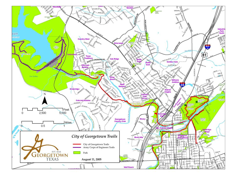 Application Procedure short application form on web site talk to one of faculty coordinators – Laura Hopgood-Oster – Michael Kamen – Ben Pierce may need to visit with City of Georgetown or Corps of Engineers fill out application applications considered by Steering Committee