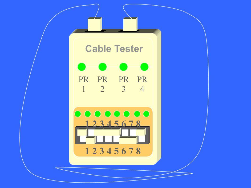 Cable Tester PR 1 PR 2 PR 3 PR 4 1 2 3 4 5 6 7 8