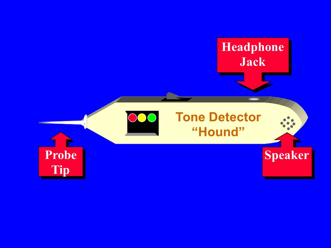 "Probe Tip Tone Detector ""Hound"" Headphone Jack Speaker"