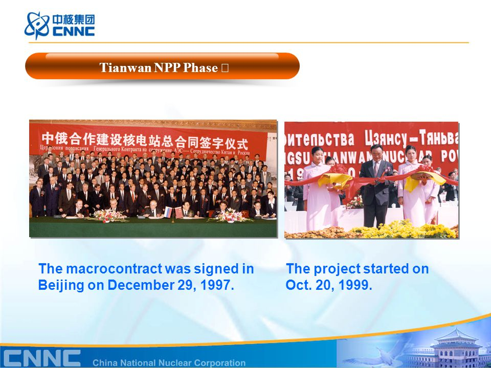 The macrocontract was signed in Beijing on December 29, 1997.