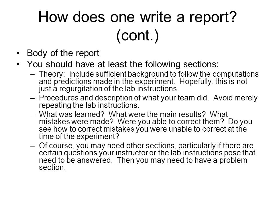 How To Write A Physics Lab Report Conclusion & Examples Of A