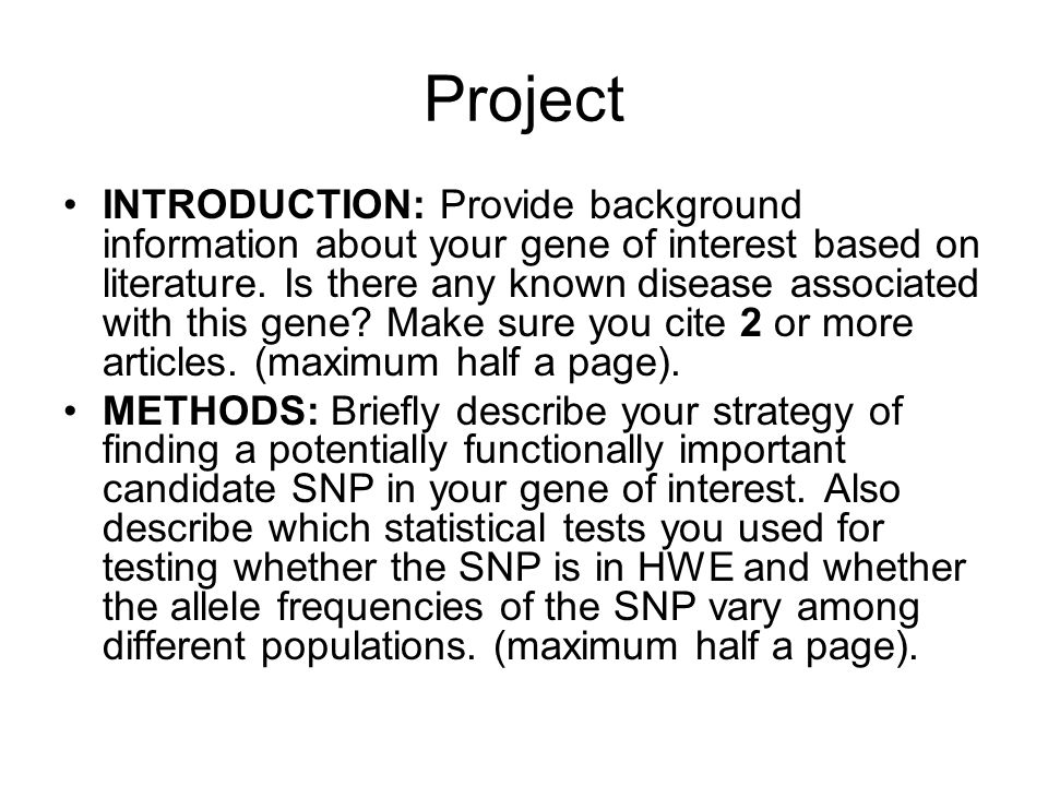 Project INTRODUCTION: Provide background information about your gene of interest based on literature.