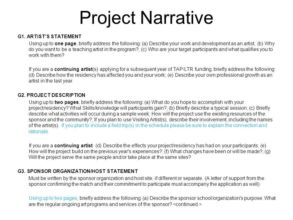 Project Narrative G1.