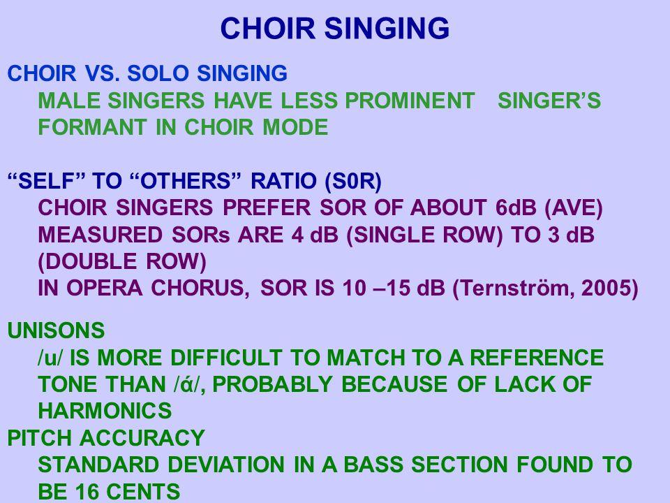CHOIR SINGING CHOIR VS.